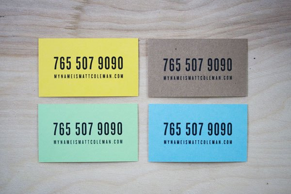 Matt Coleman Business Cards #branding #business card