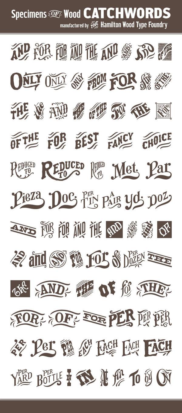 HWT Catchwords #catchwords #typography