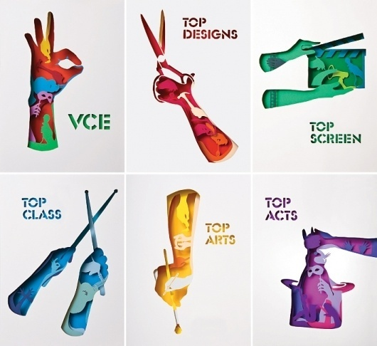 VCE Season Of Excellence - Projects - A Friend Of Mine #papercut #craft #colour #typography