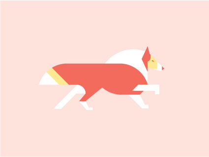 Collie by Always With Honor #icon #iconic #icondesign #picto #illustration #animal #dog #pet #collie