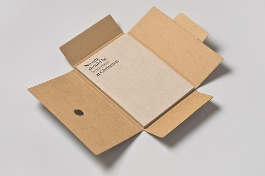 No One Should Be Homeless at Christmas Event Identity and Boxed Catalogue #cardboard #design #book #box #two