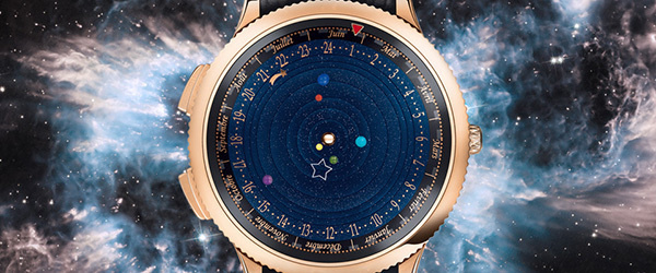 Keep your eyes on the stars and your feet on the ground, with this artistically crafted watch that brings the planetarium to your wrist. #modern #design #crafted #product #industrial #planetarium #watch #wrist #style