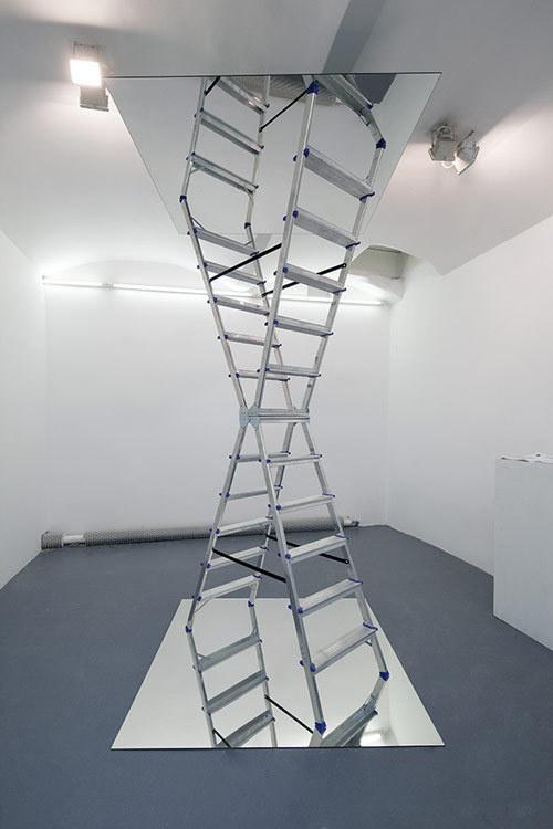 infinite ladder by Dmitri Obergfell #ladder #mirror #sculpture