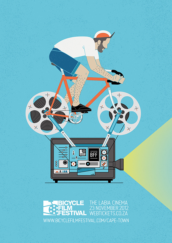 Bicycle Film Festival Poster on Behance #bicycle #festival #poster #film