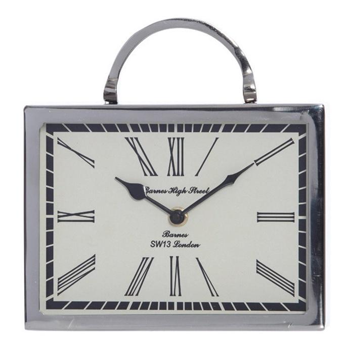 Beale Aluminium Rectangular Table Clock