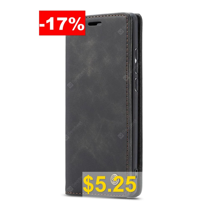 CaseMe #Retro #Leather #Wallet #Flip #Phone #Case #Card #Slot #for #Samsung #Galaxy #A30S #- #BLACK