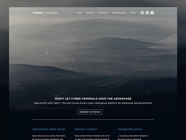 Threat / Stream Home Page #feature #background #web