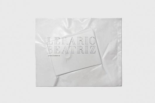Lerario Beatriz « The New Minimum #packaging #fashion #minimal #typography