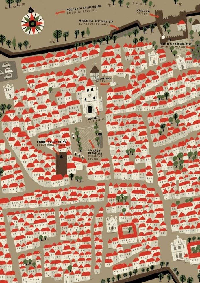 Andre Letria | Elvas #city #illustration #house