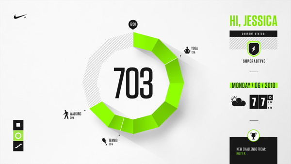 Nike Fuel Design Exploration #infographic #interface #ui #info #data #numbers