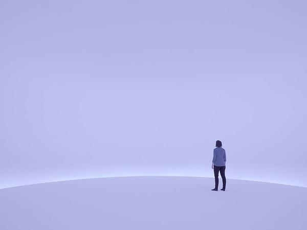 doug wheeler reflects an unreachable horizon with light filled room #horizon