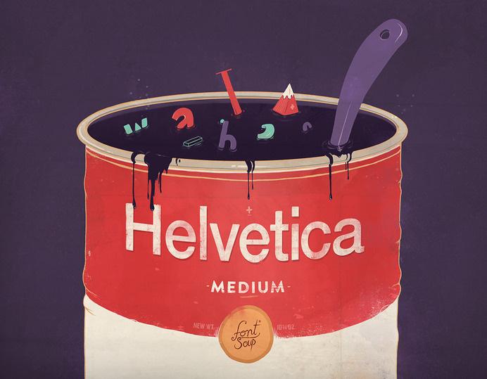 Helvetica soup #campbells #helvetica #soup