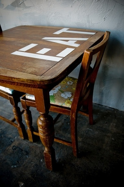 Patent Pending Projects: Stencilled Table Project #replace #revive #dont