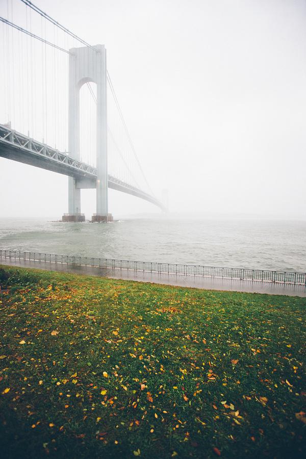 http://13thwitness.com/post/34617328507/verrazano-narrows-bridge-2012 #fog #water #grass #photography #bridge