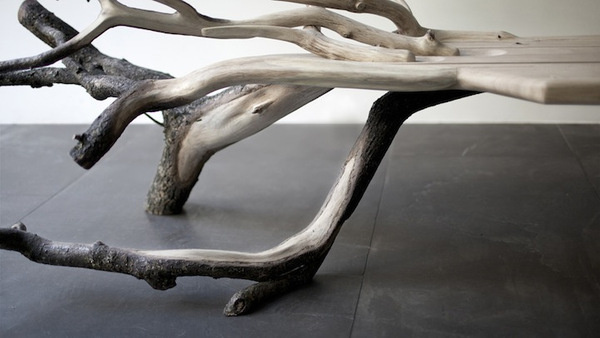 CJWHO ™ (FallenTree: Half Tree, Half Bench by Benjamin...) #tree #design #bench #wood #furniture #photography #clever
