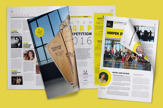 Program for the Dutch Harp Festival by The Ad Agency