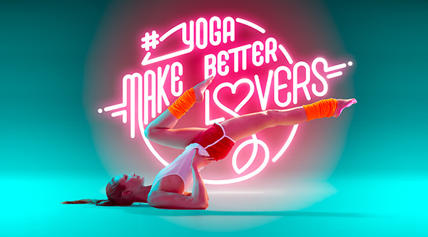 This is a personal yoga shoot with the amazing Lena Fishman. yogatothecore #model #illustration #yoga #typography