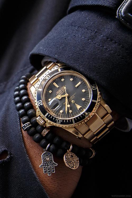 tokyo bleep #black #gold #watch #bracelets #rolex