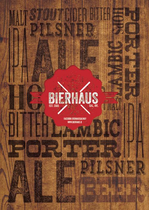 Bierhaus #print #menu
