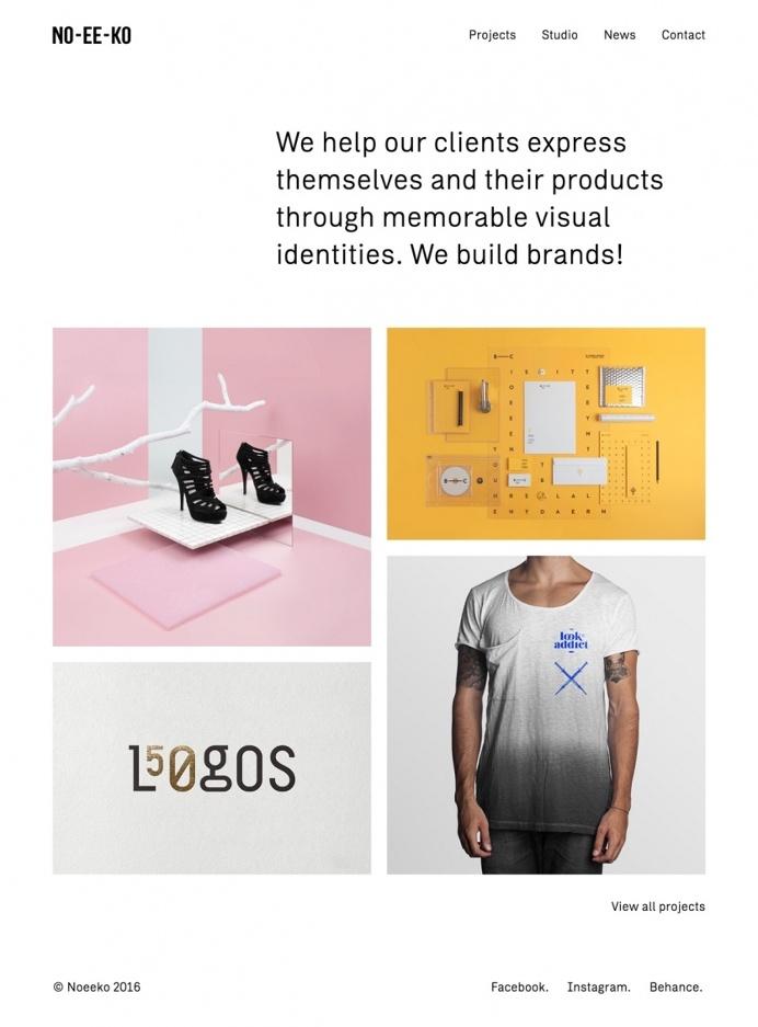 noeeko website webdesign portfolio studio beautiful minimal inspiration mindsparklemag no ee ko style website award logos desifn studio bran