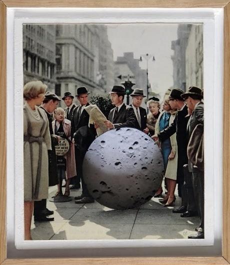 Dan Bina, Mahattan, Moon #bina #manhattan #dan #men #vintage #collage #mad #moon