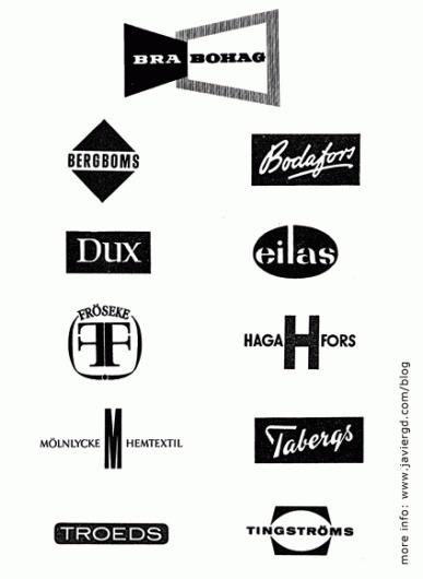 Javier Garcia #mark #logos #modern #swedish #furniture #identity #scandinavian #mid #century #logo