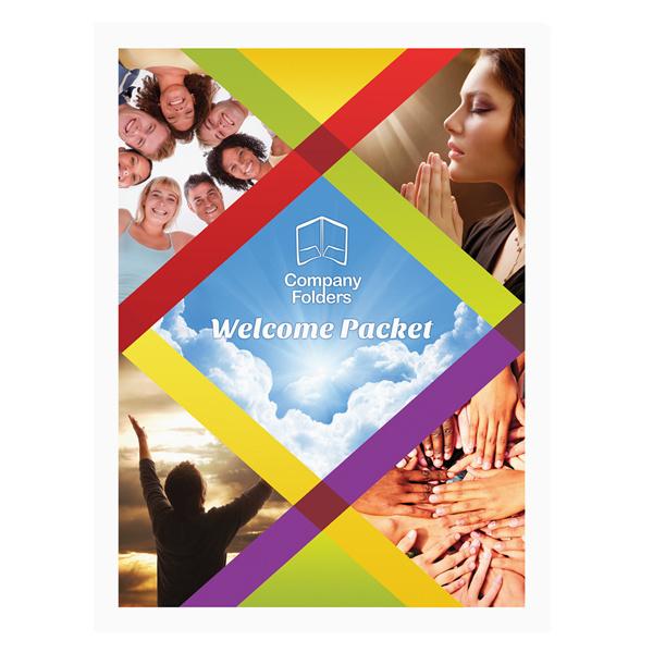 Colorful Unity Spiritual Folder Template #spiritual #psd #free #colorful #photoshop #template #download #rainbow #folder