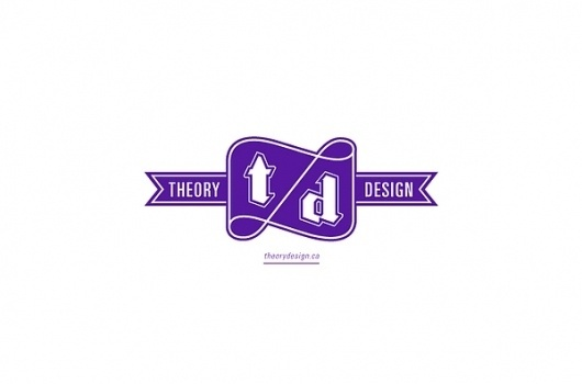 Theory design on the Behance Network #logo #identity #typography