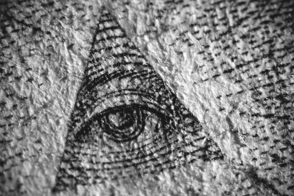 Eric Oulette - One-dollar bill study #cash #dollar #bill #texture #eye #triangle #photography #macro