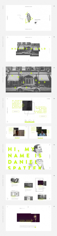 Daniel Spatzek Portfolio 2017 - Mindsparkle Mag - Daniel Spatzek Portfolio 2017 is a beautiful website awarded as site of the day for its mi