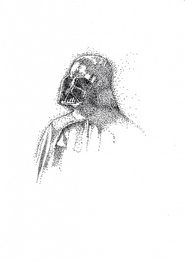 MAY THE FORCE BE WITH YOU on the Behance Network #doris #poligrates #wars #dots #star #drawing