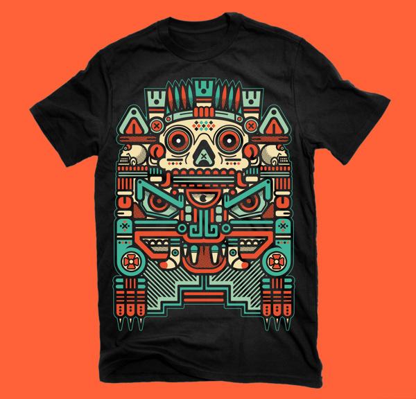 "XOLOTL ""EL ANIMAL"" on Behance #vector #xolotl #shirt #black #illustration #colors #vintage #art #man"