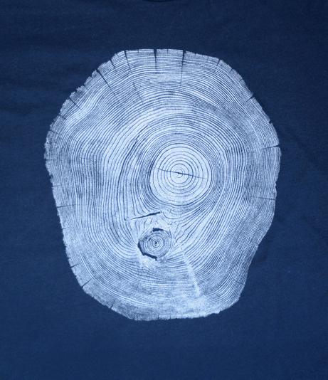 Fourth is King x Bryan Nash Gill: Locust Navy #woodcut #tree #tshirt #art #streetwear #fashion