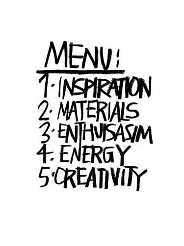 Menu Art Print by Stephen Anthony Davids Easyart.com #inspiration #words #quote #print #design #art #poster #artprint
