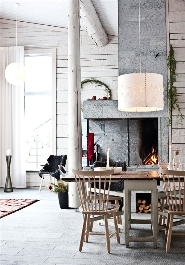 Timber House in Sweden | Miss Design #interior #sweden #concrete #design #decor #fireplace