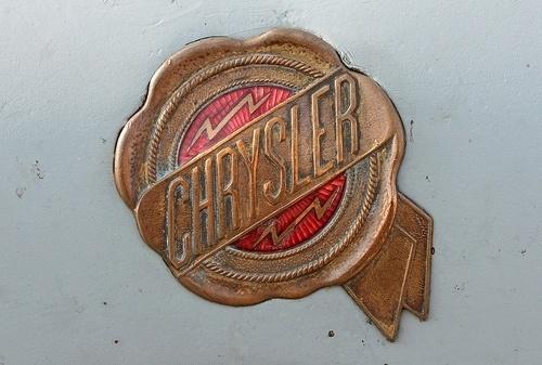 Chromeography #badge #red #automobile #seal #bolt #lightning #vintage #gold