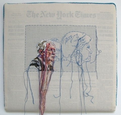 Lauren DiCioccio #thread #newspaper #art