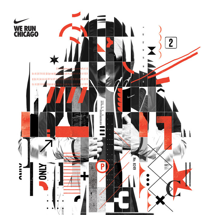 NIKE Chicago Marathon These were some initial design proposals for the Chicago marathon campaign. They did not make the cut.#nike #marath