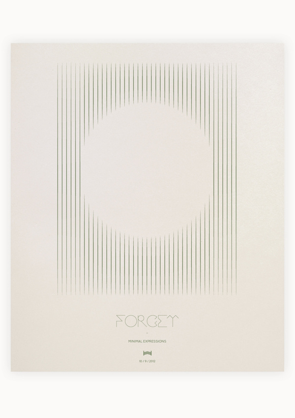 Minimal Expressions #forget #expression #minimal #poster