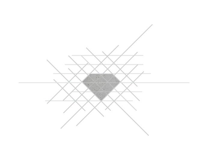 VERONICA MAE   diamond in the rough brand #concrete #diamond #design #graphic #veronica #brand #mae