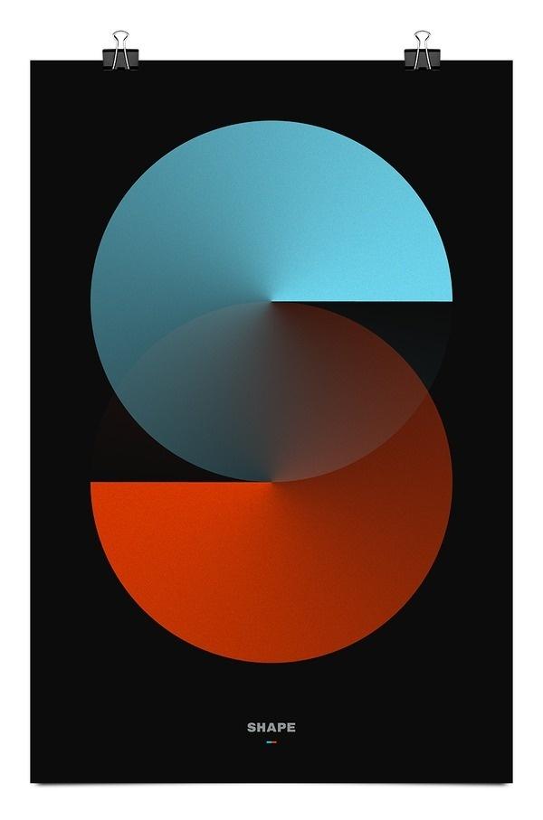 Poster for Shape studio new identity by Fabrice Vrigny #logo #identity #minimal #poster #shape #letter #morocco