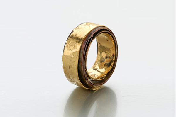 all around you | ring 2006 shibuichi, yellow gold #fashion #jewel #golden #gold