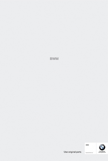 BMW spare parts   Ads of the World™ #bmw #advertising