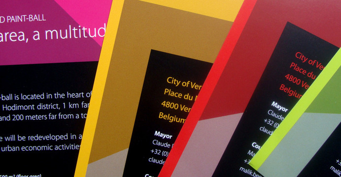 Brochure and leaflets for investors. City of Verviers, Belgium. #logotype #brand #identity