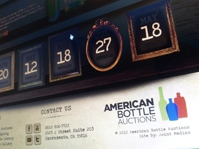 Dribbble - American Bottle redesign by Brian Espinosa #design #vintage #amercan #web #antique