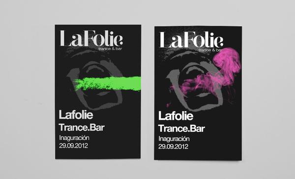 Lafolie Trance Bar. on Behance #branding #advertising #illustration #posters #logo #face