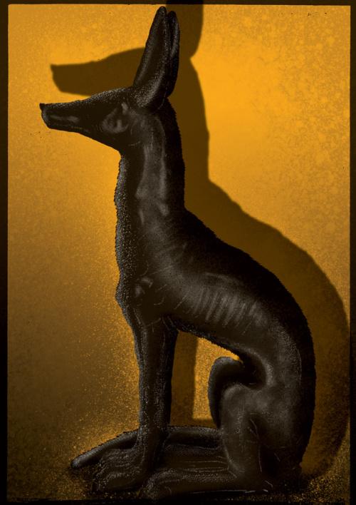Anubis #chakal #poster #egypt #god #yellow #poster #digitalpainting #illustration #design #animal #chakal #poster #egypt #god #yellow #digit