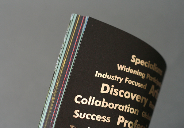 Rose Bruford College - We delivered Rose Bruford College a prospectus to stand out from the rest and which shout about their fantastic offer #print #layout #book #typography
