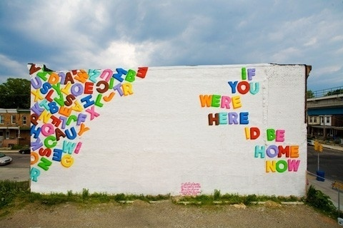 inspiration station / love letters #rainbow #letters #home #you