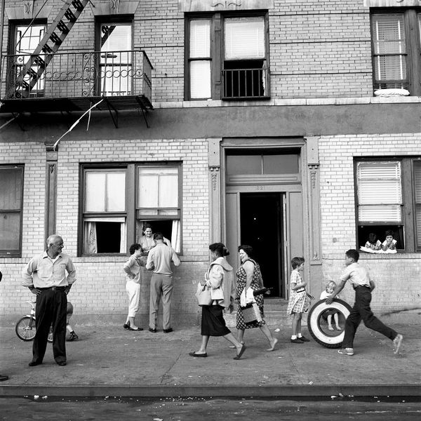 Sept 28, 1959, 108th St. East, New York, NY #vivien #white #1950s #black #photography #and #maier
